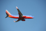 Southwest airlines 737 taking off poster