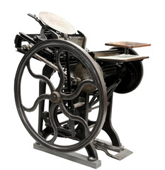 antique letterpress from 1888