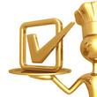Golden Chef Serving A Vote