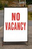 No Vacancy Sign poster