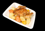 Oven Roasted Cornish Hen with Root Vegetables poster