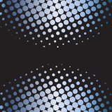 Colorful halftone retro dots forming a wave  poster