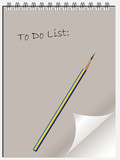 To do list note pad or note book with page curl and pencil. poster