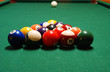 Pool Table with Racked Balls