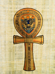 Ankh, egyptian papyrus