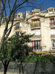 Paris, France, Immeuble à façade classique en pierre