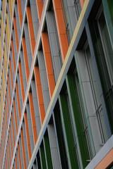 Bürofassade bunt