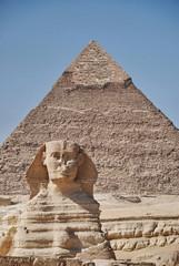 The Sphynx and the Chephren pyramid