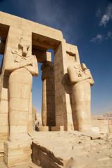 Osiris statues.Temple of Ramesses II. Egypt
