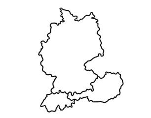 Deutschland Österreich Schweiz Umriss