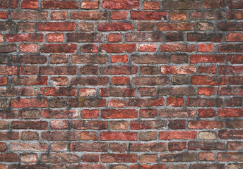 Ziegelmauer aus rotem Klinker