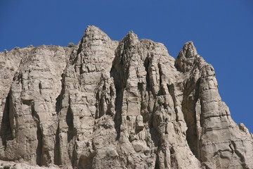Interesting rock formation near Kamloops, BC, Canada.