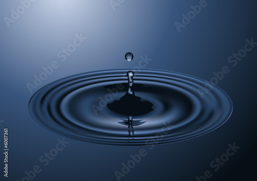 canvas print picture Water drop, vector illustration