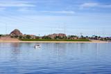 Boating Weekend at Tempe Lake, Arizona Salt River poster