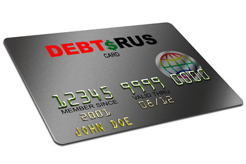 typical platic credit card with ecpiration date