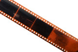 straight film strip isolated poster