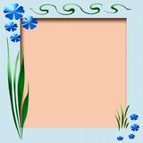 spring scrapbook frame poster