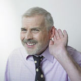 Fototapety Man with hearing problem
