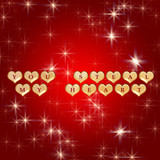 3d golden hearts, red text - you steal my heart, stars, lights poster
