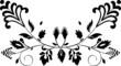 symmetric botanic decoration