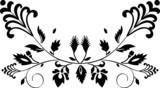 symmetric botanic decoration poster