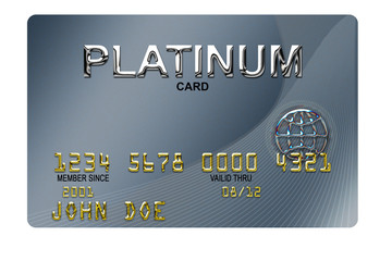 typical plastic credit card with expiration date