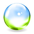 Clear glass ball