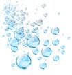 Leinwandbild Motiv Blue bubbles