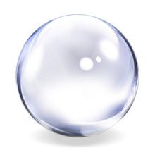 """Постер, картина, фотообои """"Transparent Glass Sphere"""""""