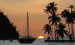 Leinwanddruck Bild - Sunset in Marigot Bay, St Lucia