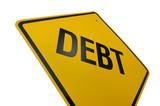 Debt Road Sign poster