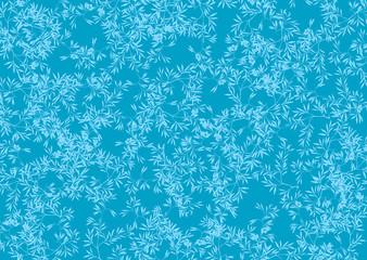 fond de feuilles bleues