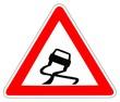 Panneau de Signalisation (Chaussee glissante - A4)