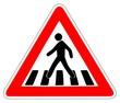Panneau de Signalisation (Passage pour pietons - A13B)
