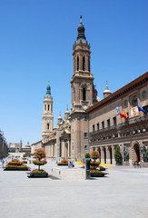 the view of Zaragoza