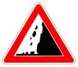 Panneau de Signalisation (Chute de pierre - A19)