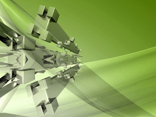 abstract green fresh background rendering