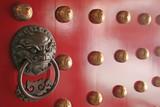 Duchovní Guardian Nalezeno na tradiční čínské Dveře