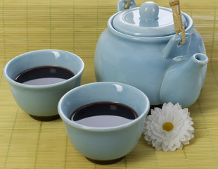 Traditional chinese coffee set