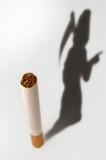 Cigarette & death silhouette poster