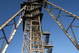 Mine shaft tower in famous industrial mining region of Poland poster