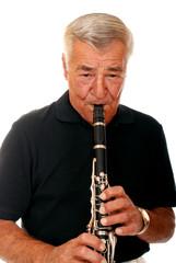 Senior Playing Clarinet