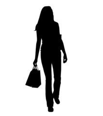 shopping silhouette - frau 2