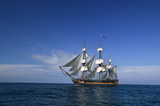 Sailing Ship at Sea under full sail  - 6041342