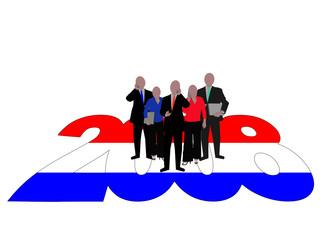 Dutch Business team on 2008 text