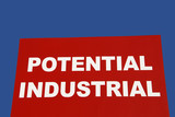 Sign Advertising Potential Industrial Property poster