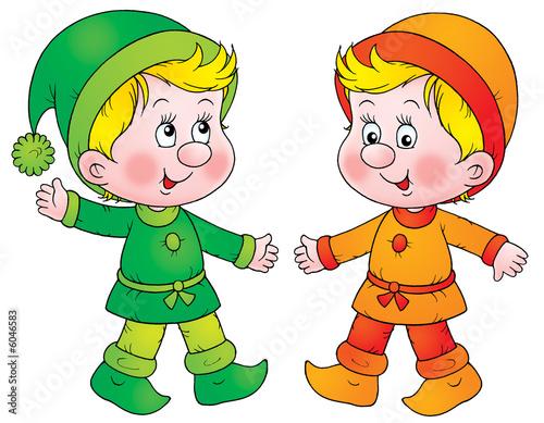 Foto op Canvas Feeën en elfen Gnomes