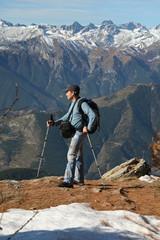 Randonneur en montagne