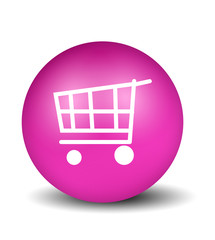 Shopping Button - pink