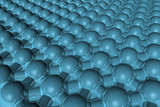 Hexagonal circle matrix poster